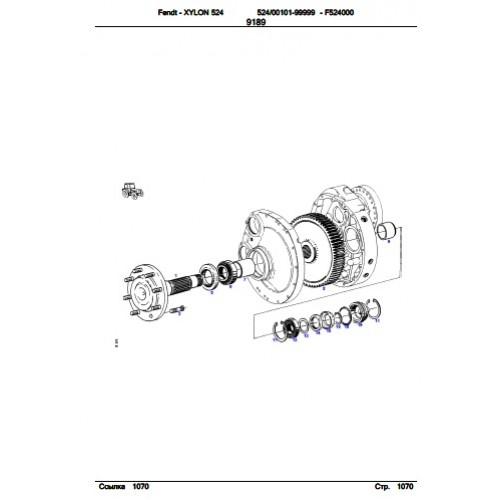 Fendt Xylon 524 Parts Manual