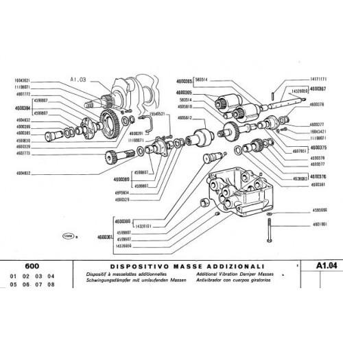 Fiat 600 Parts Manual 1971