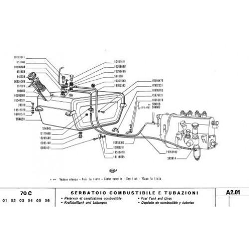 Fiat 70C Parts Manual