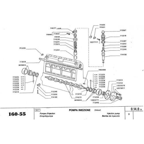 Fiat 160-55 Parts Manual