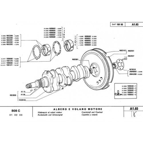 Fiat 505C Parts Manual