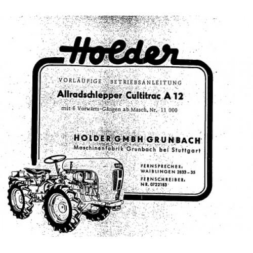 Holder A 12 Cultitrac Operators Manual