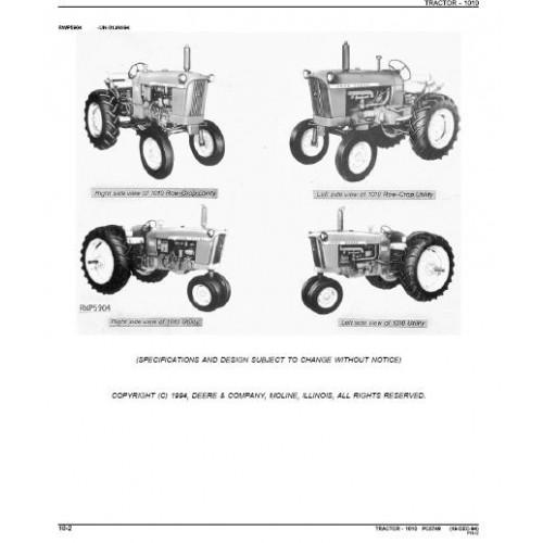 John Deere 1010 Parts Manual