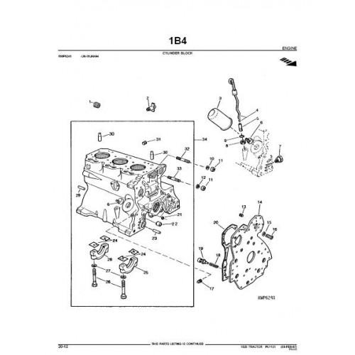 John Deere 1520 Parts Manual