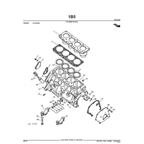 John Deere 2010 Parts Manual
