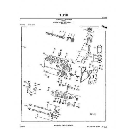 John Deere 2020 Parts Manual