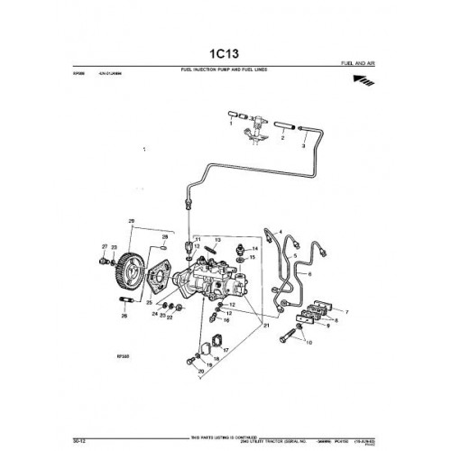 John Deere 2040 Parts Manual