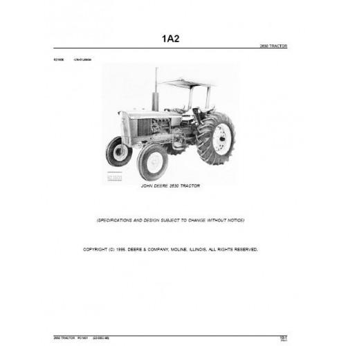 John Deere 2630 Parts Manual