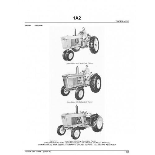 John Deere 3010 Parts Manual
