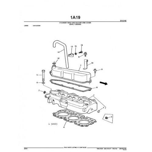 John Deere 820 Parts Manual