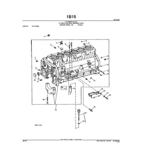 John Deere 7020 Parts Manual