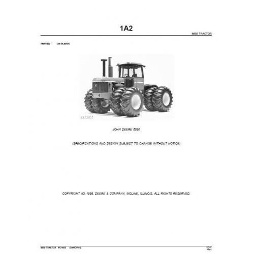 John Deere 8630 Parts Manual