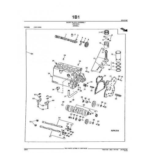 John Deere 2520 Parts Manual