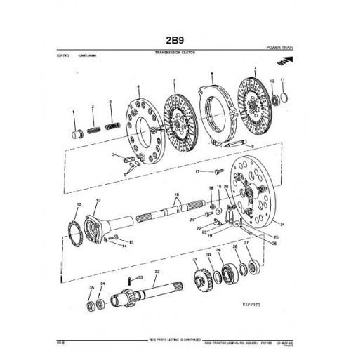 John Deere 5020 Parts Manual from serialnr 025000