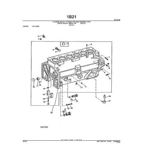 John Deere 6030 Parts Manual