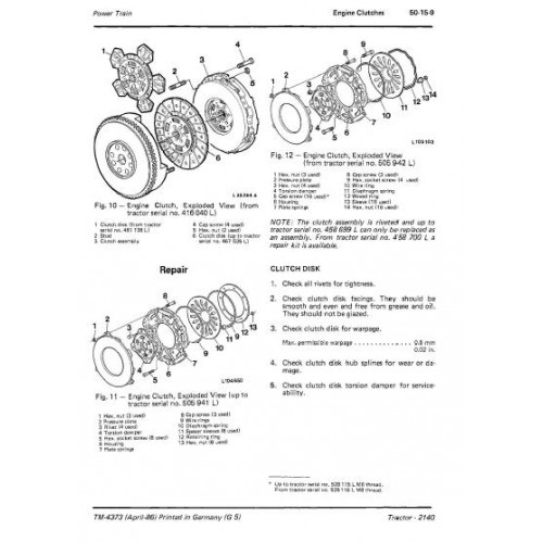 John Deere 2140 Workshop Manual