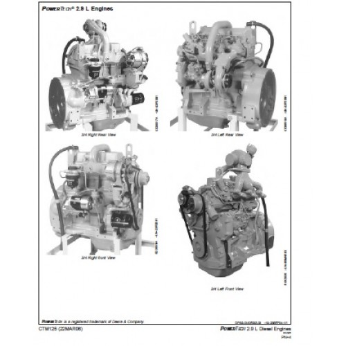 John Deere PowerTech 2.9 L Diesel Engine Workshop Manual