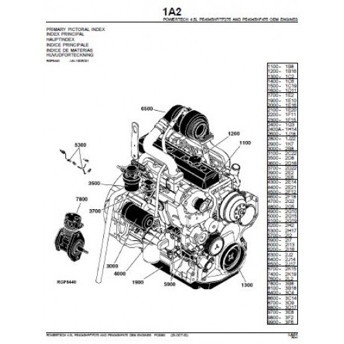 John Deere PowerTech 4.5 L Diesel Engine Parts Manual
