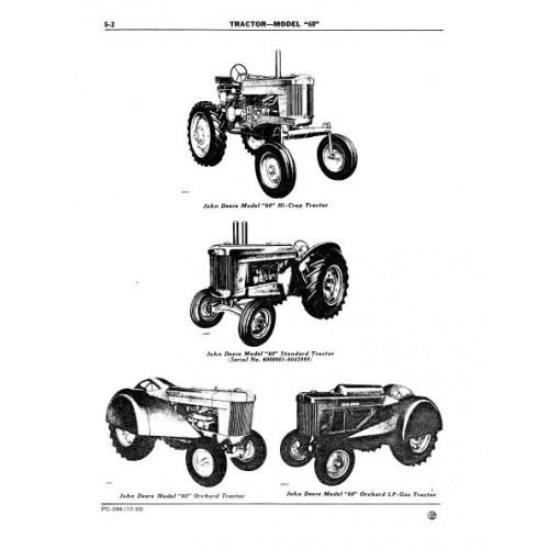 John Deere Model 60 Parts Manual