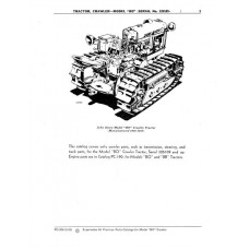 John Deere BO Crawler Parts Manual