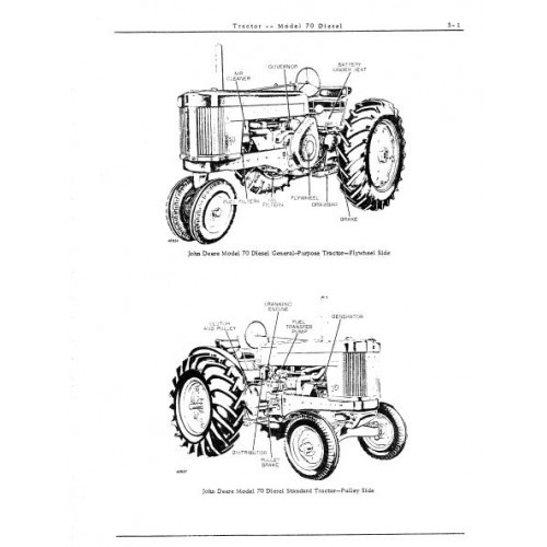 John Deere Model 70 Diesel Parts Manual
