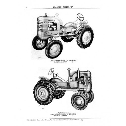 John Deere Model L Parts Manual