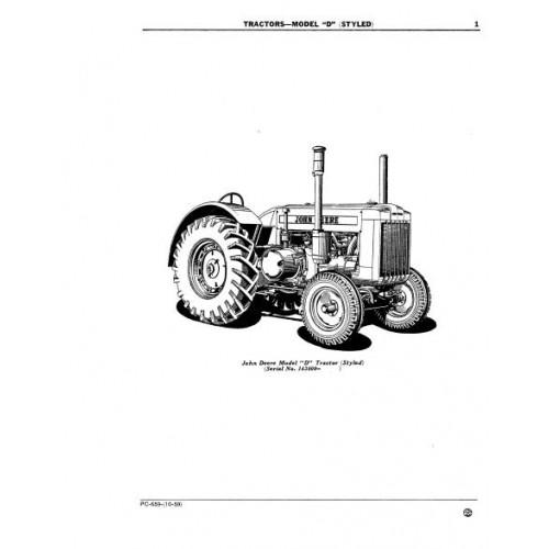 John Deere Model D Parts Manual