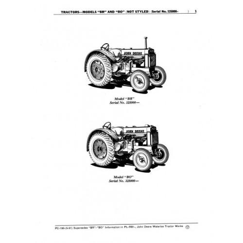 John Deere 170 Parts Manual