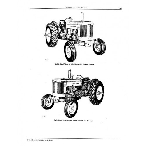 John Deere 435 Diesel Parts Manual