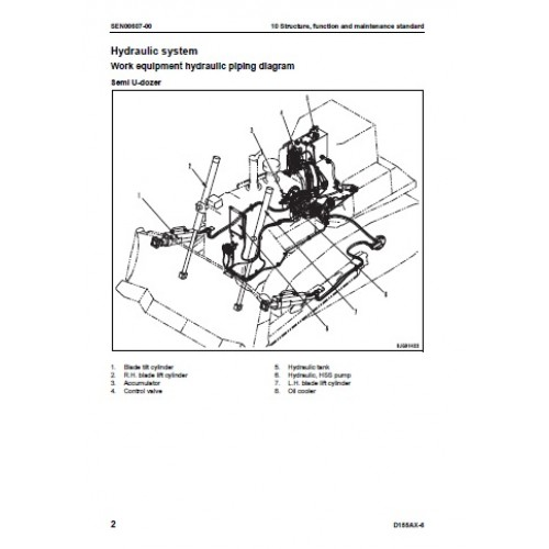 Komatsu D155AX-6 Galeo Workshop Manual