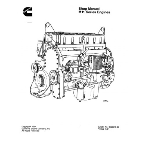 Komatsu Cummins M11 Diesel Engine Workshop Manual