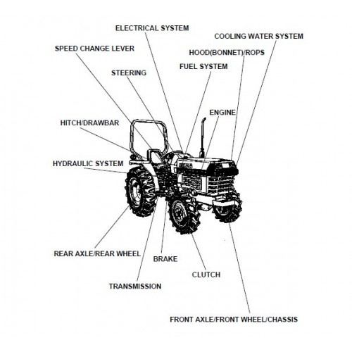 Kubota L2500DT Parts Manual