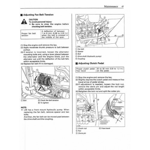 Kubota L35 Operators Manual