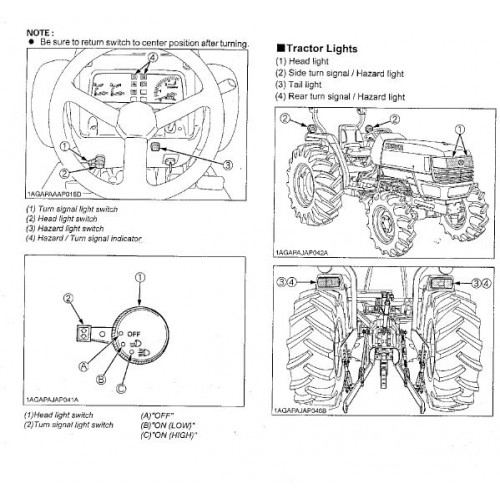 Kubota L4400 Operators Manual