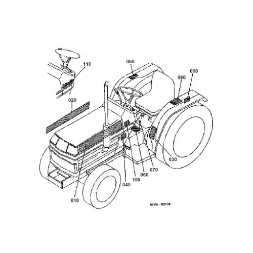Kubota B1550D Parts Manual