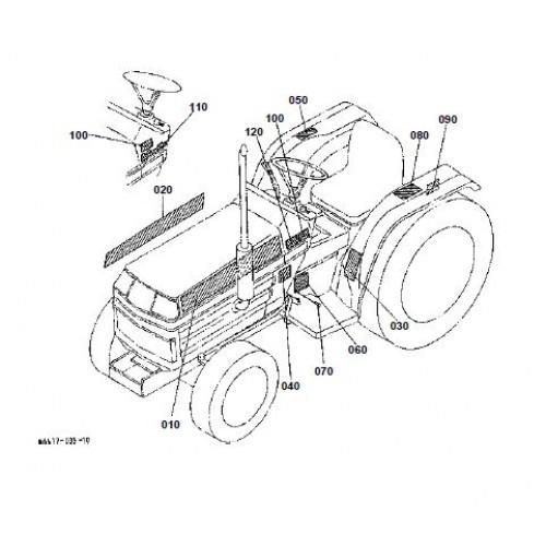 Kubota B1550HST-D Parts Manual