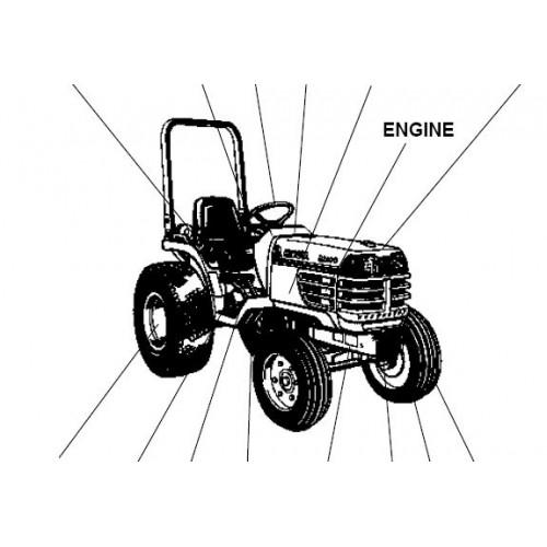 Kubota B2100E Parts Manual