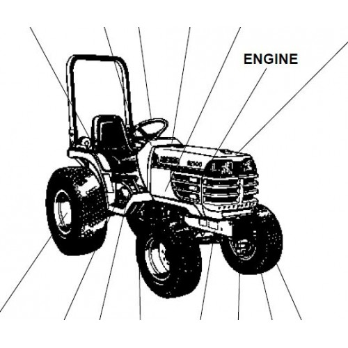 Kubota B2400HSD Parts Manual