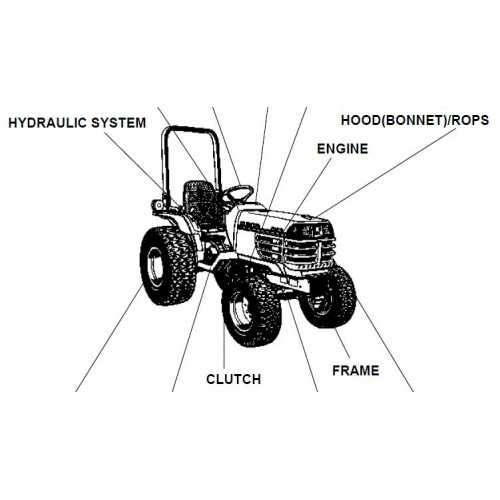 Kubota B2410HSD Parts Manual