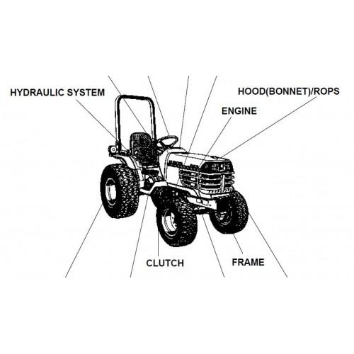 Kubota B2410HSDB Parts Manual
