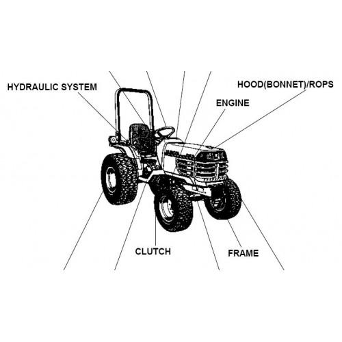 Kubota B2410HSE Parts Manual
