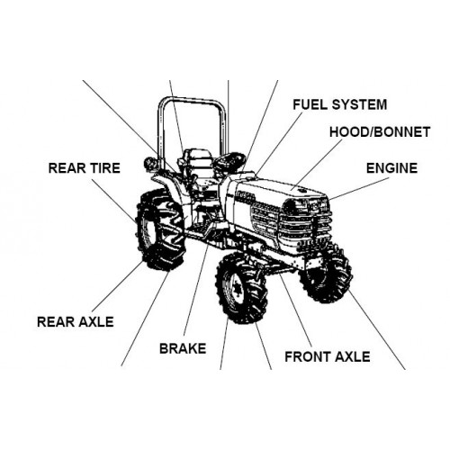Kubota B2910HSD Parts Manual