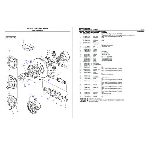 Massey Ferguson MF 8160 Parts Manual