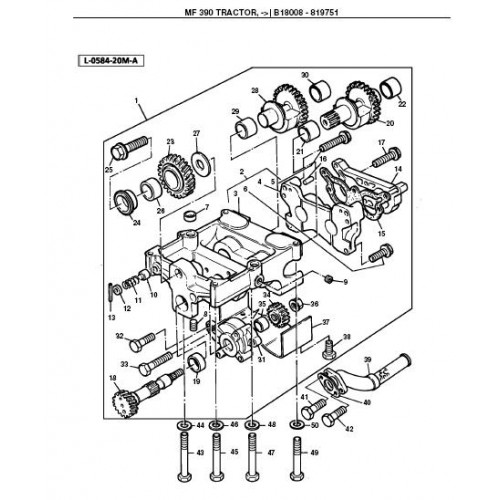 Massey Ferguson MF 390 Parts Manual