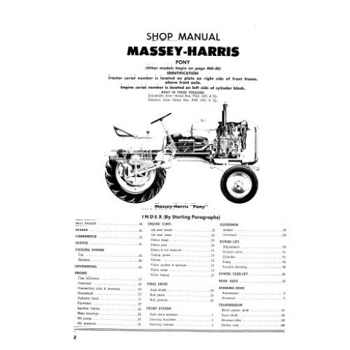 Massey-Harris Pony Workshop Manual