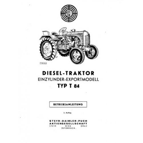Steyr T84 Operators Manual
