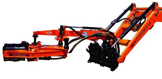 Vibradores para olivos Halcón F40 Y F60. Fuente: Halcon