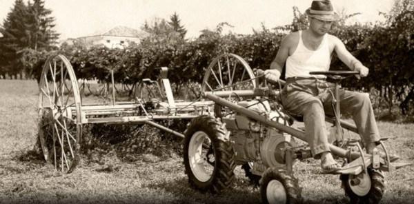 Tractor monoeje Scarabeo. Tractor Nº1.