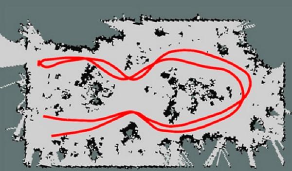 Mapa de invernadero construido por robot terrestre. Robot multi-función desarrollado por la UPM y el CSIC