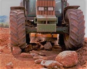 Trituradoras de piedras. Maquinaria para la eliminación de piedras